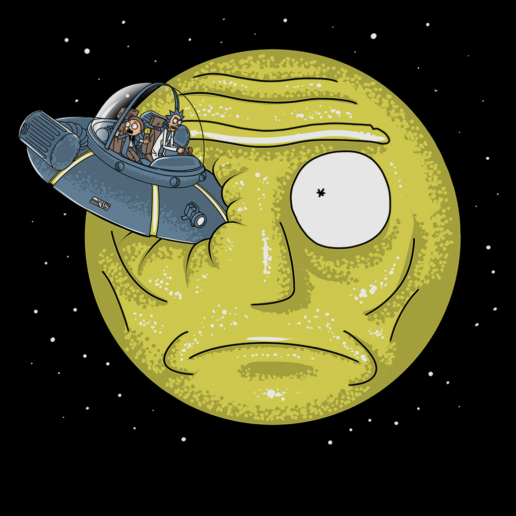 Pop-Up Tee: Rick to the Moon