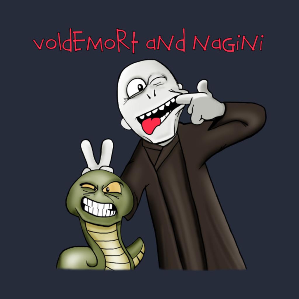 TeePublic: Voldemort and Nagini T-Shirt
