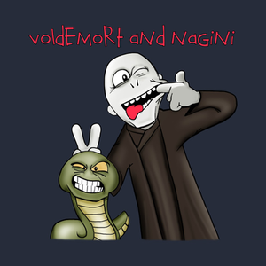 TeePublic: Voldemort and Nagini T-Shirt