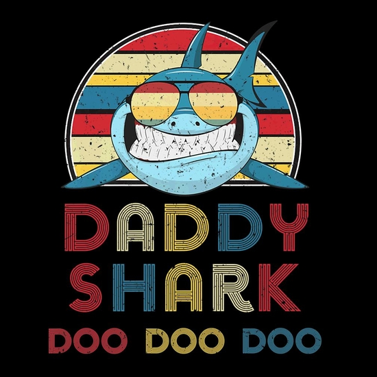 BustedTees: Daddy Sharks Tshirt