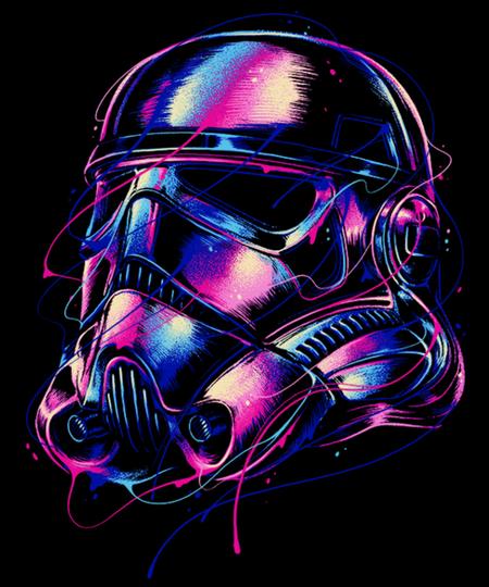 Qwertee: Colourful Trooper