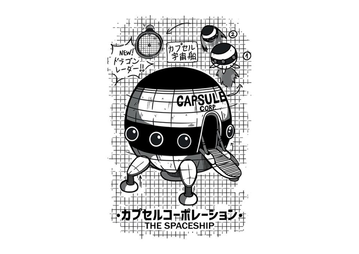 TeeFury: Capsule Spaceship