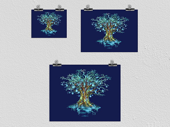 Woot!: Rune Tree Poster