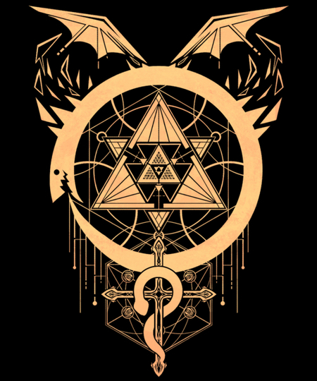 Qwertee: Gilded Snakes of Alchemy