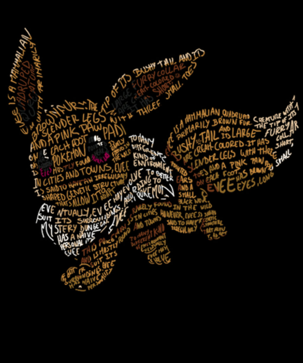 Qwertee: Eevee's words