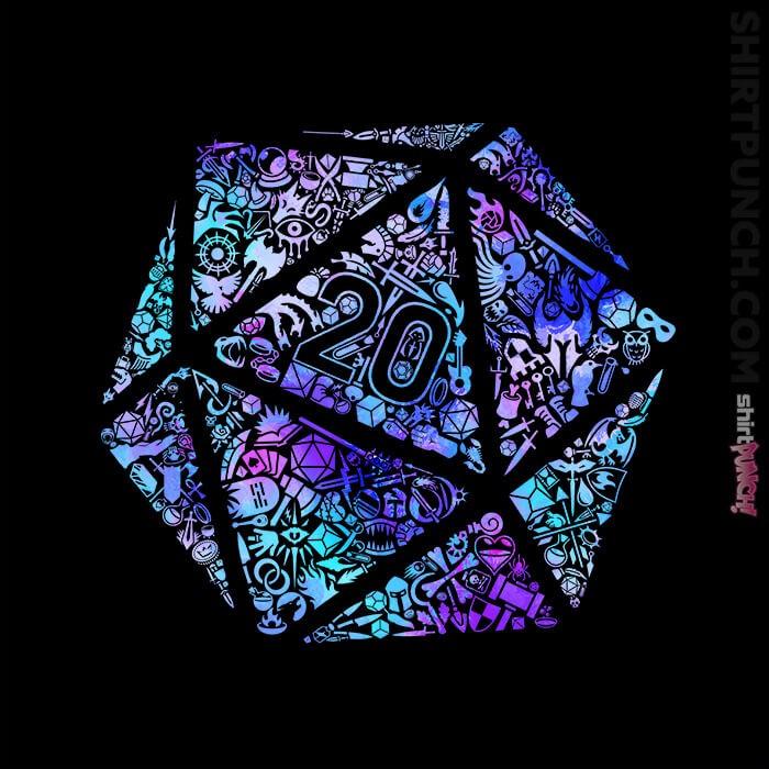 ShirtPunch: Shiny Mosaic D20
