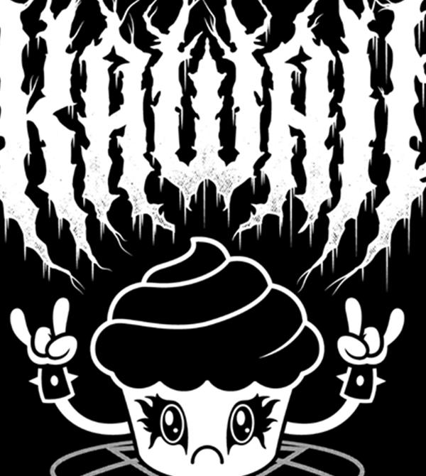 teeVillain: Black Metal KupKake