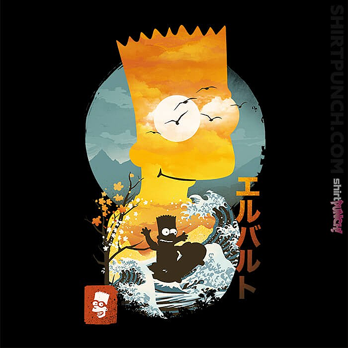 ShirtPunch: Bart Ukiyoe