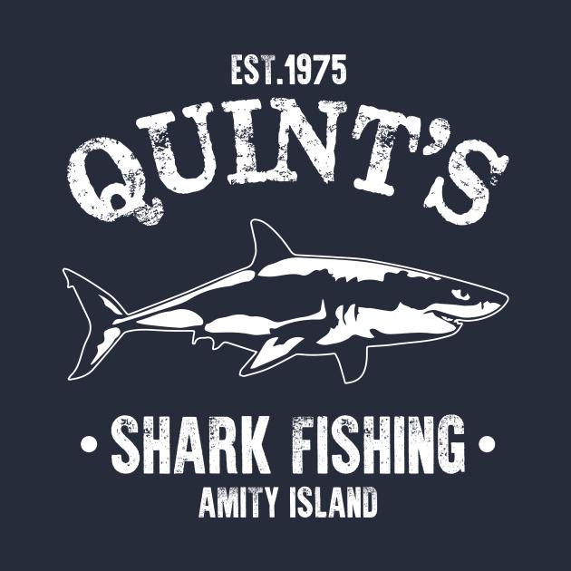 TeePublic: Quint's Shark Fishing Amity Island