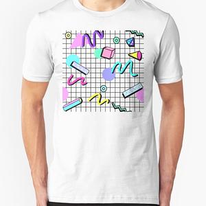RedBubble: 80s Retro Party Grid Design (White BG)