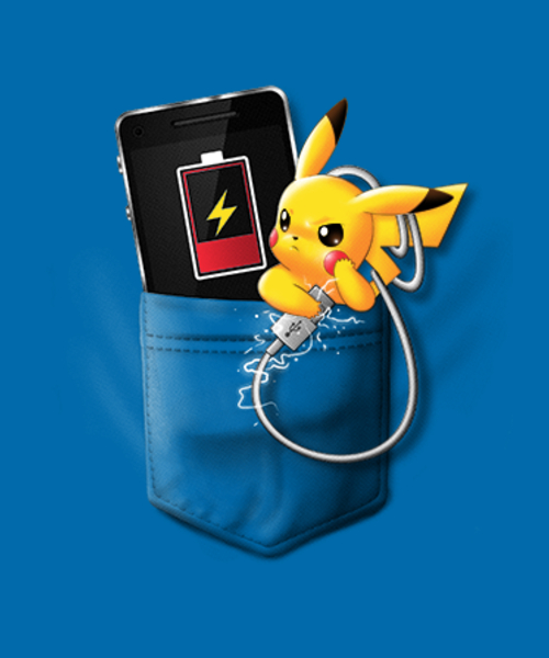 Qwertee: Pika Charger