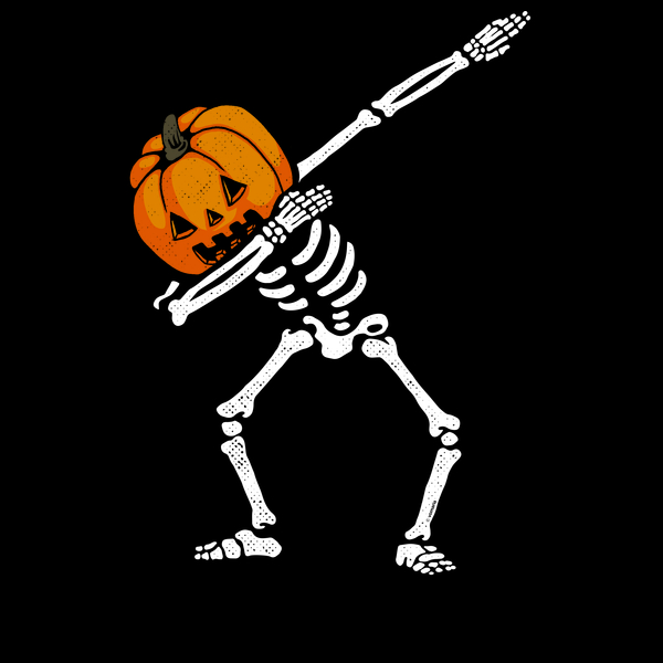 NeatoShop: Dabbing Skeleton Pumpkin Glow 2