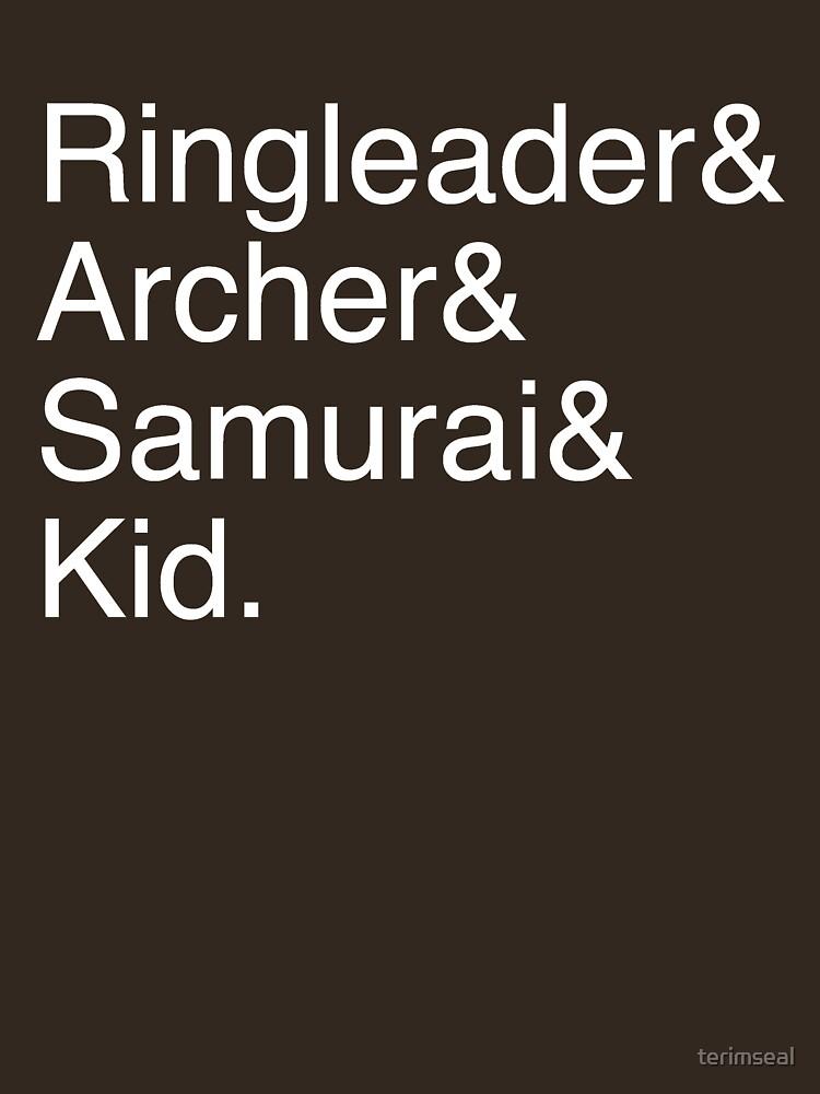 RedBubble: Ringleader, Archer, Samurai, Kid - The Walking Dead
