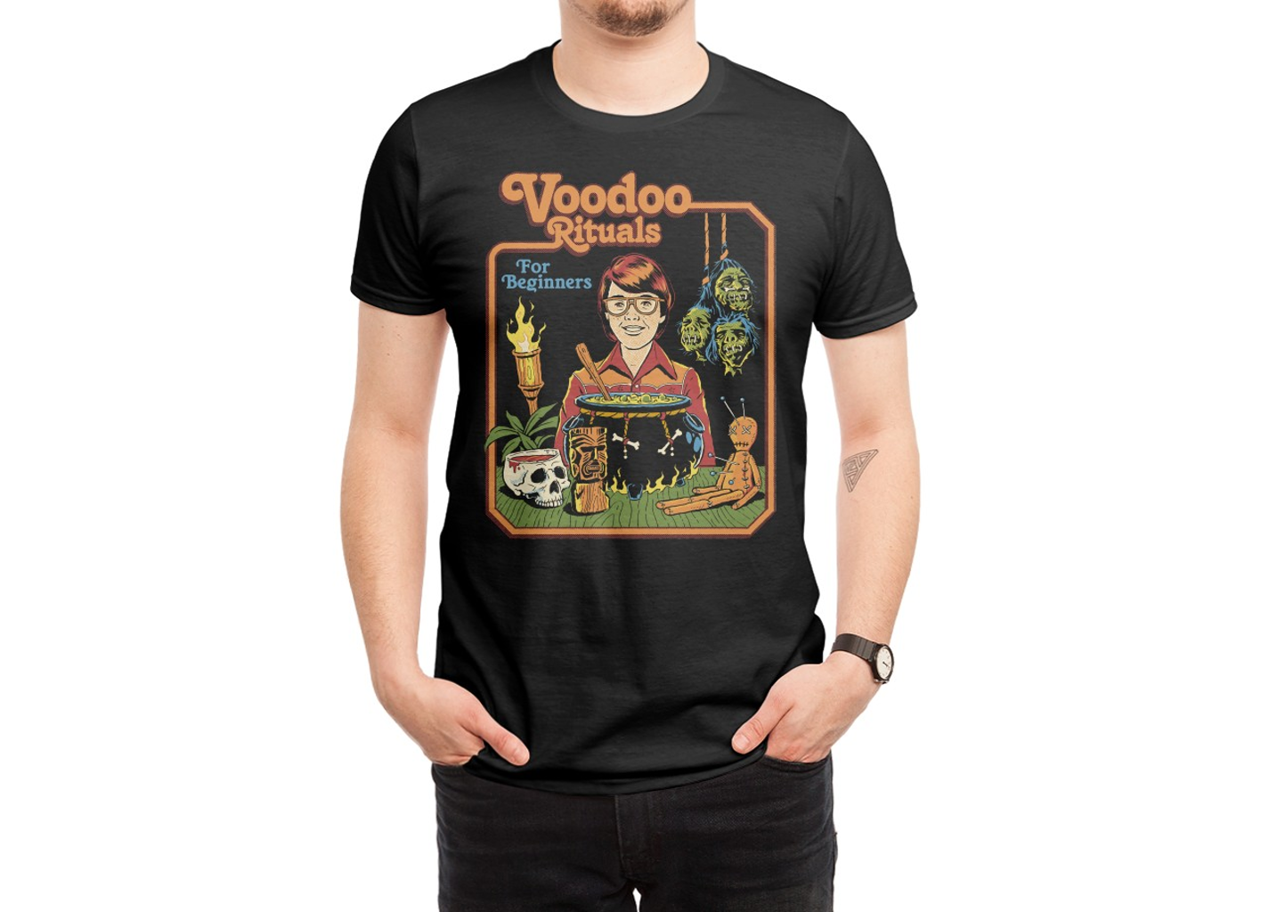 Threadless: Voodoo Rituals for Beginners (Black Variant)
