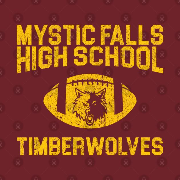 TeePublic: Mystic Falls Timberwolves Football