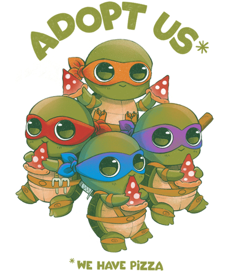 Qwertee: Adopt us* We have pizza!