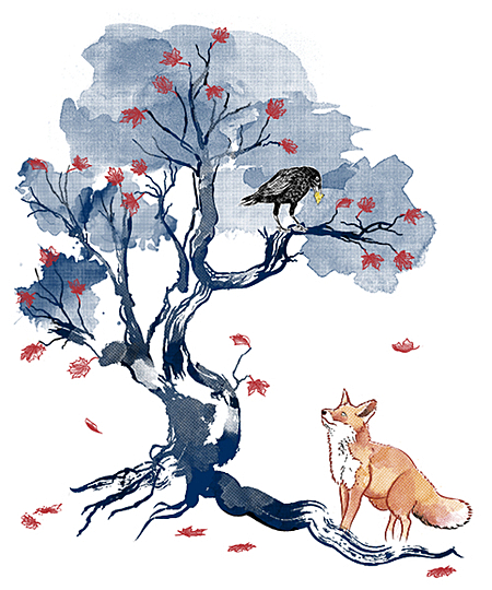 Qwertee: The Fox and the Crow