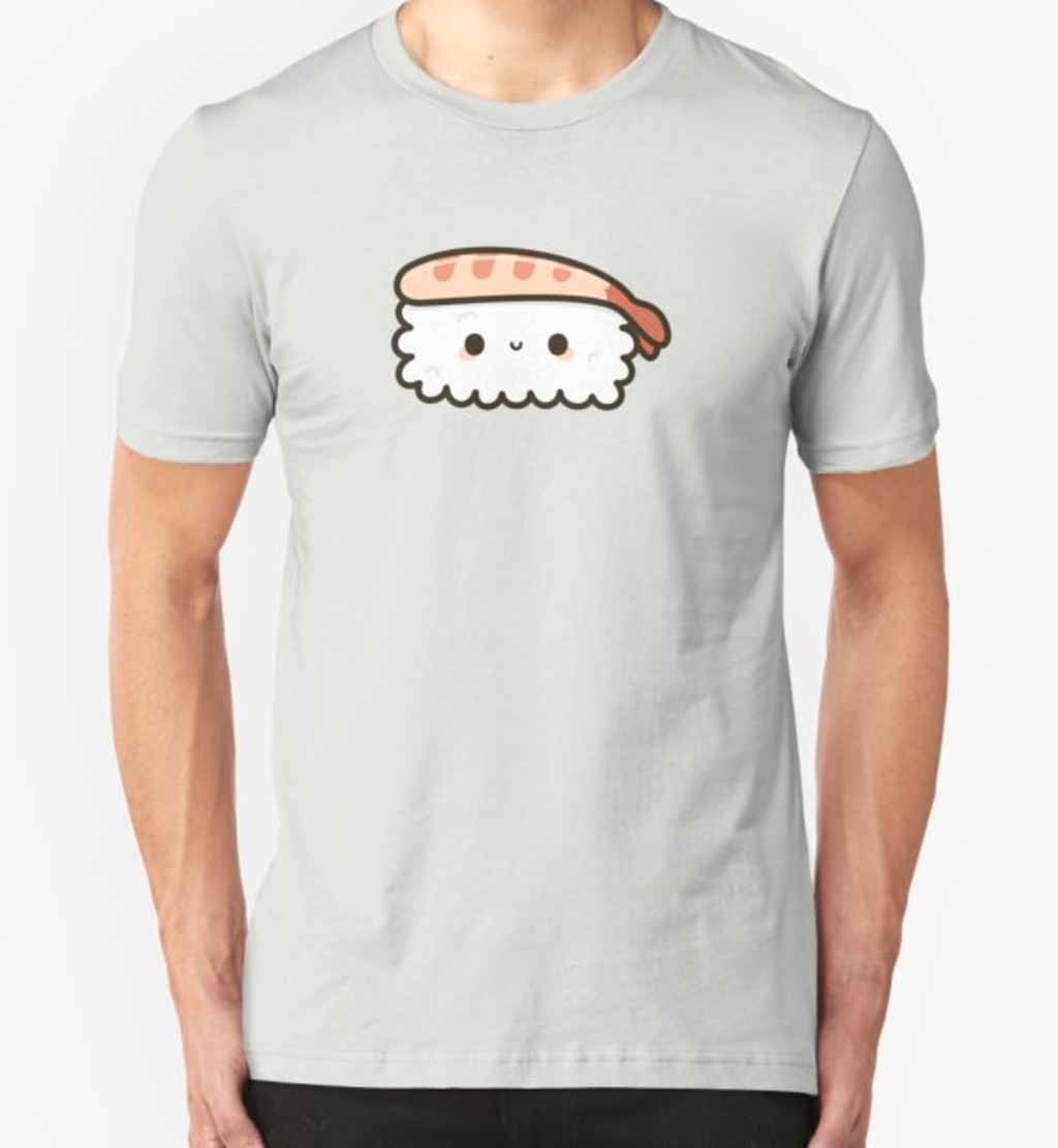 RedBubble: Cute prawn sushi