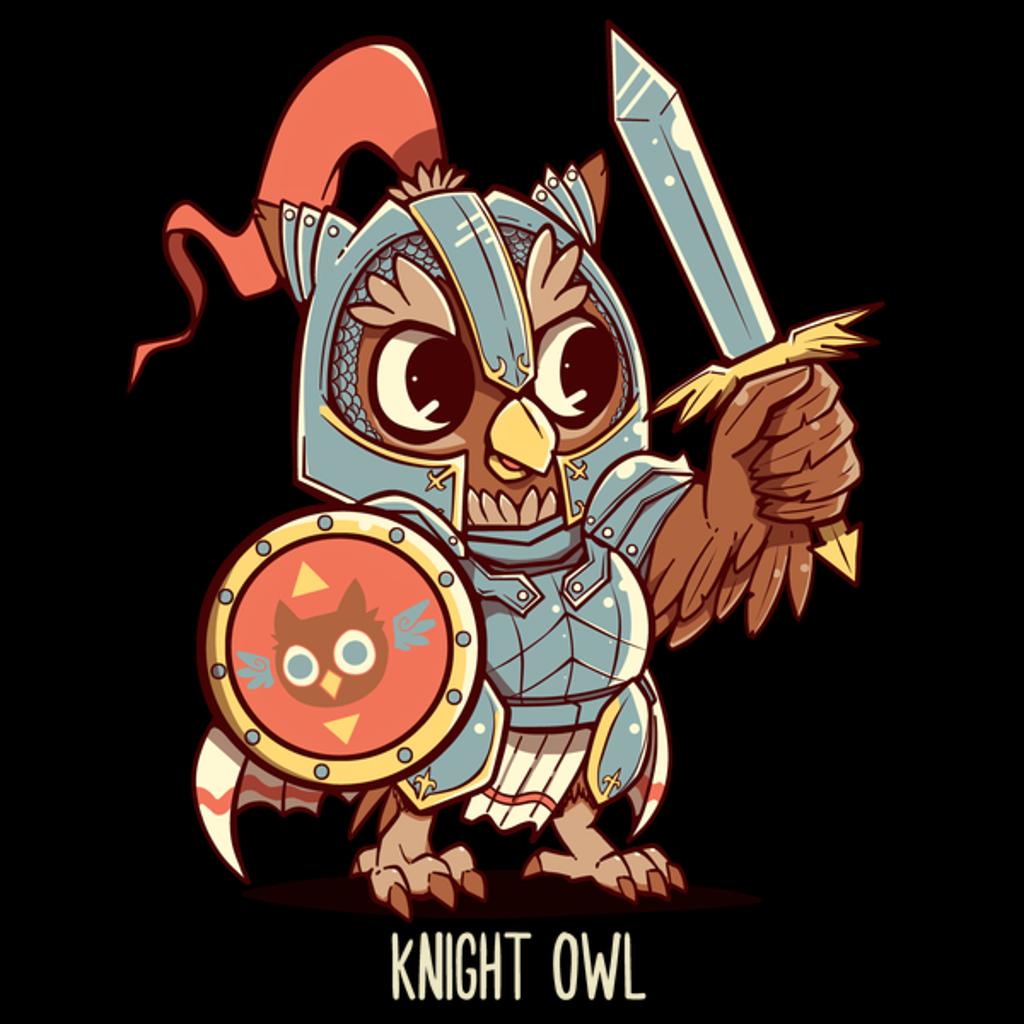 NeatoShop: Knight Owl Animal Pun Shirt