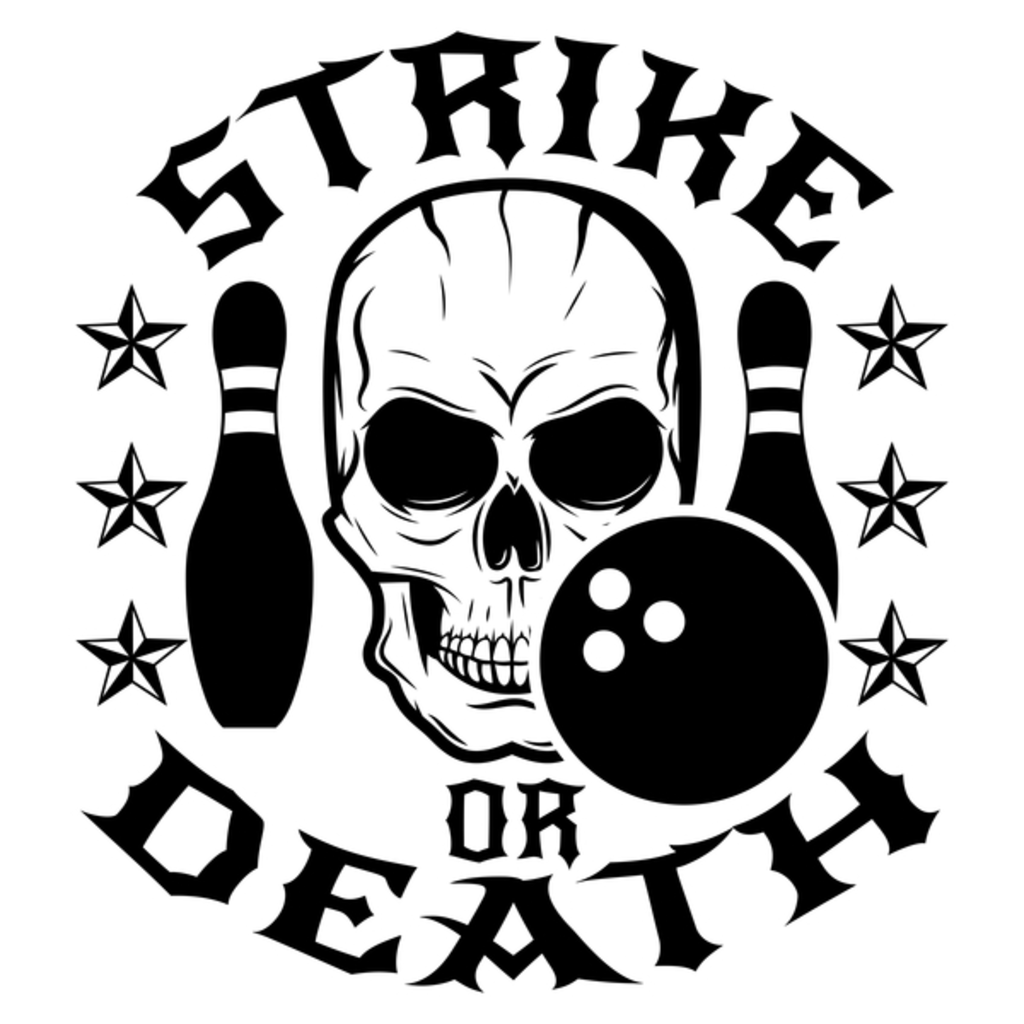 NeatoShop: Strike or Death - Bowling Player Skull