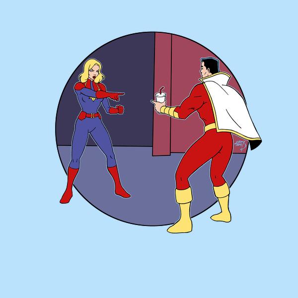 NeatoShop: Captain Marvels Pointing Meme