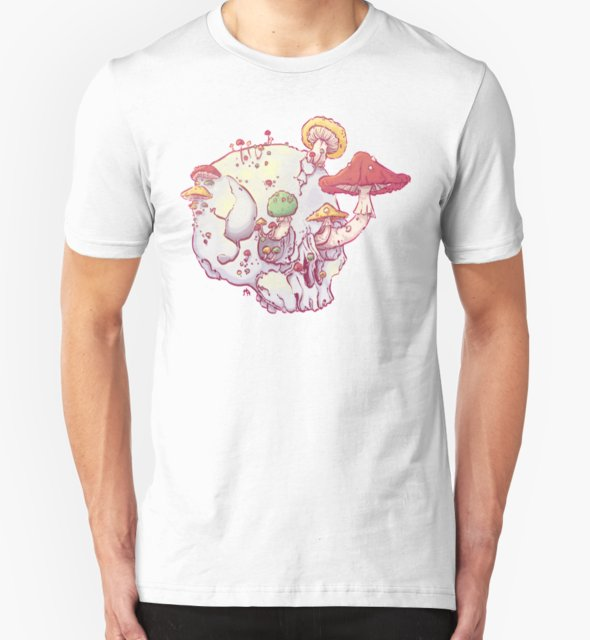 RedBubble: Skull No.1 // The Mushrooms One