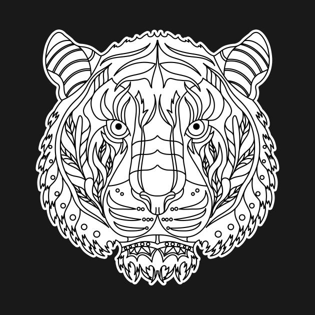TeePublic: Tiger Mandala