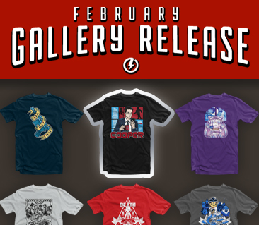 TeeFury: February Gallery Release Collection