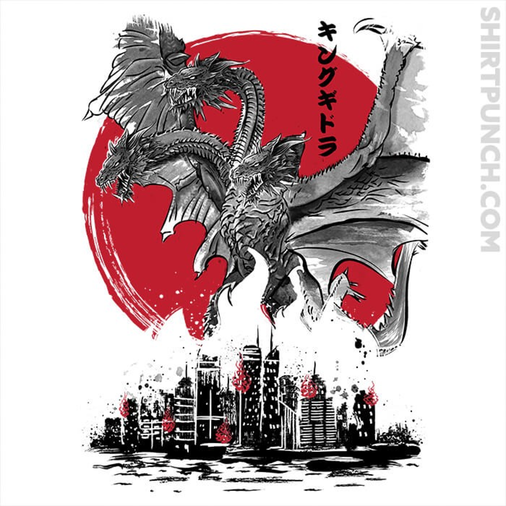ShirtPunch: The King Of Terror Attack Sumi-e