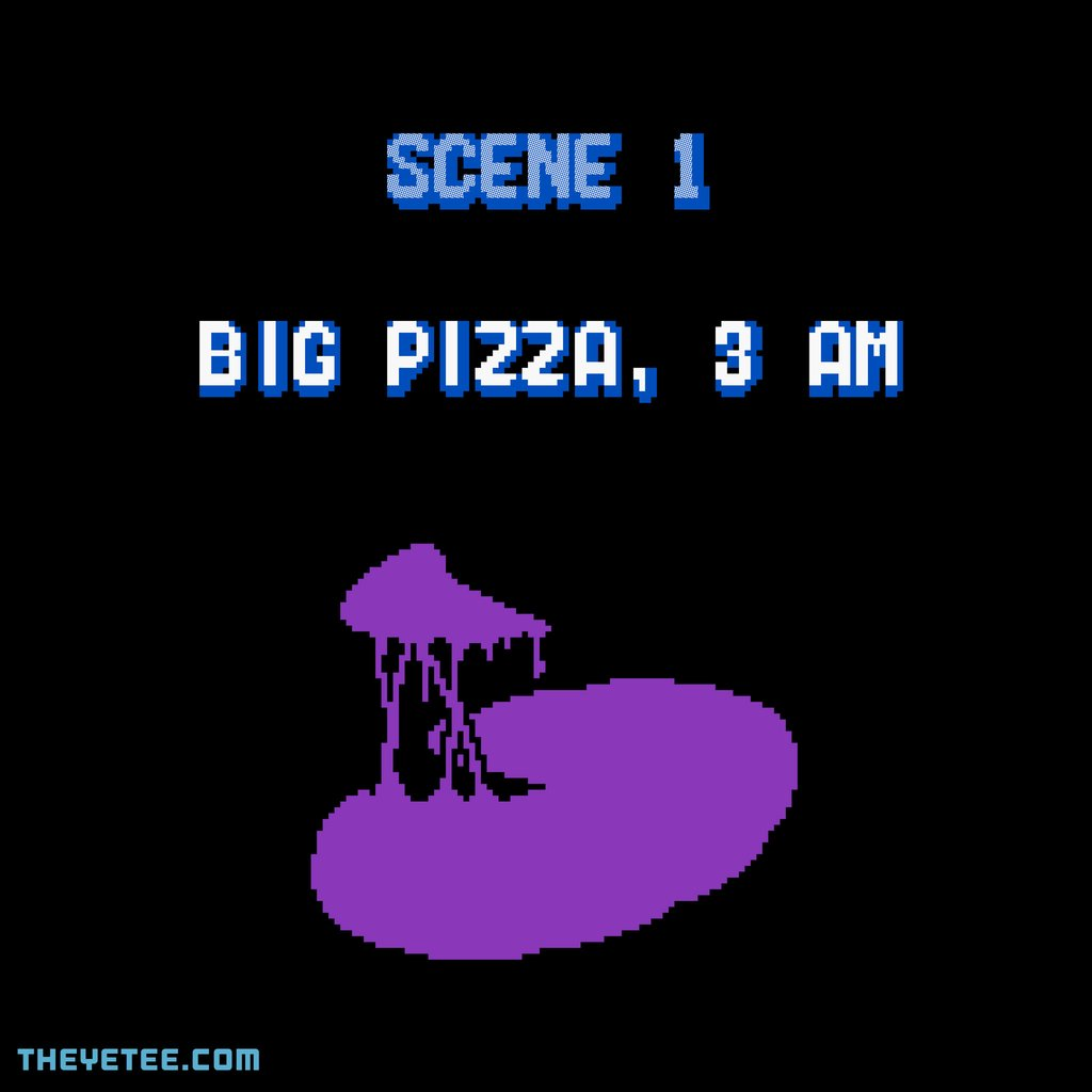 The Yetee: BIG PIZZA 3 AM