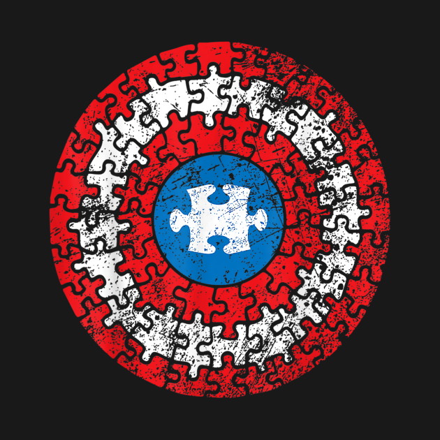 TeePublic: Autism Awareness Puzzle Superhero Shield