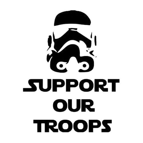 BustedTees: Support our Troops Mug