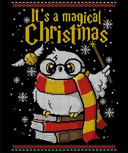 Qwertee: Owl magic christmas
