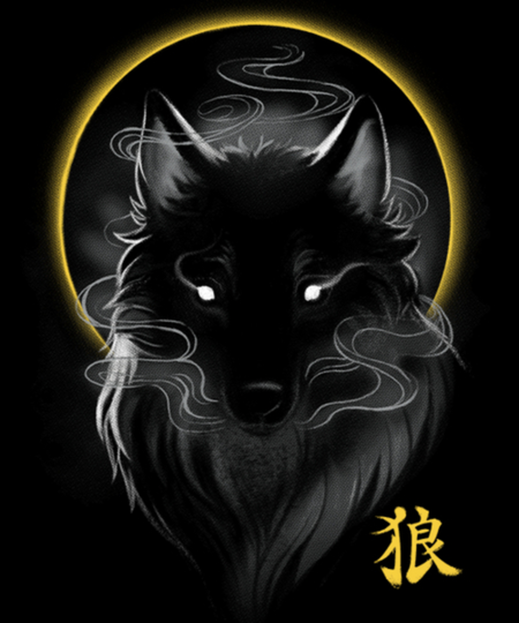 Qwertee: Black Wolf ghost