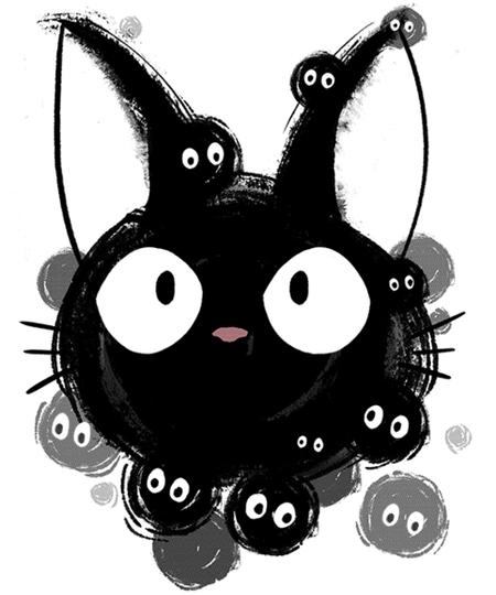 Qwertee: Susuwatari cat