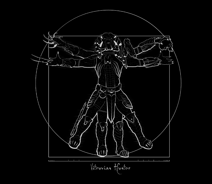 TeeFury: Vitruvian Hunter