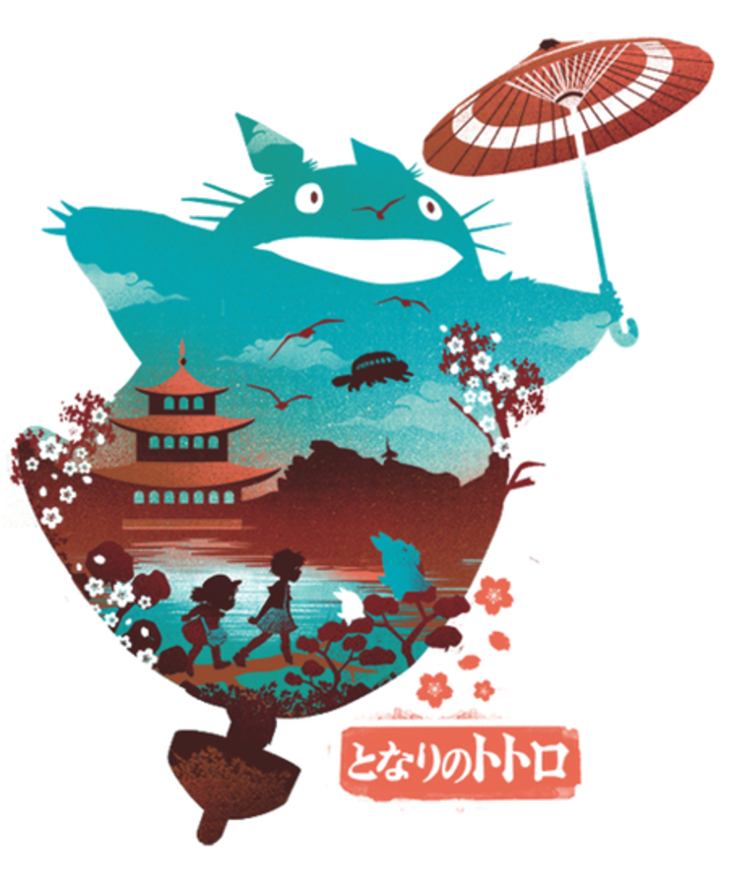 Qwertee: Ukiyo e Neighbor