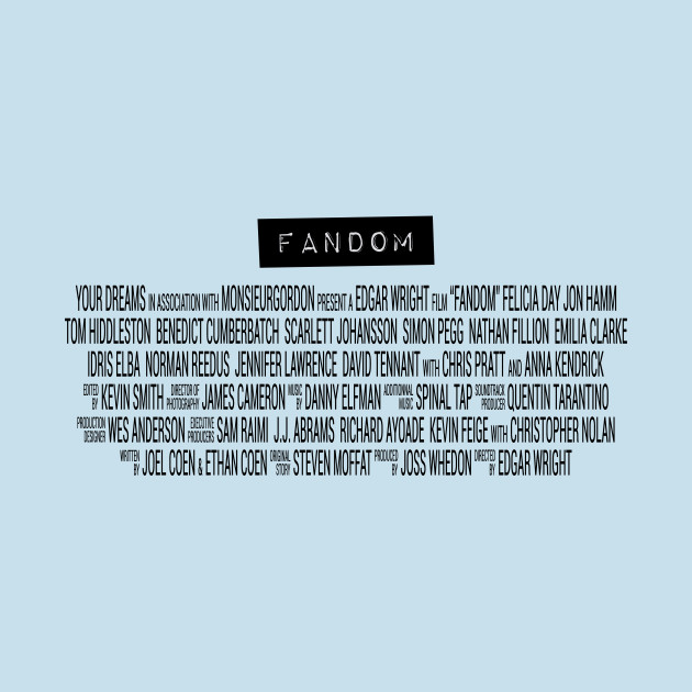 TeePublic: Fandom - The Movie