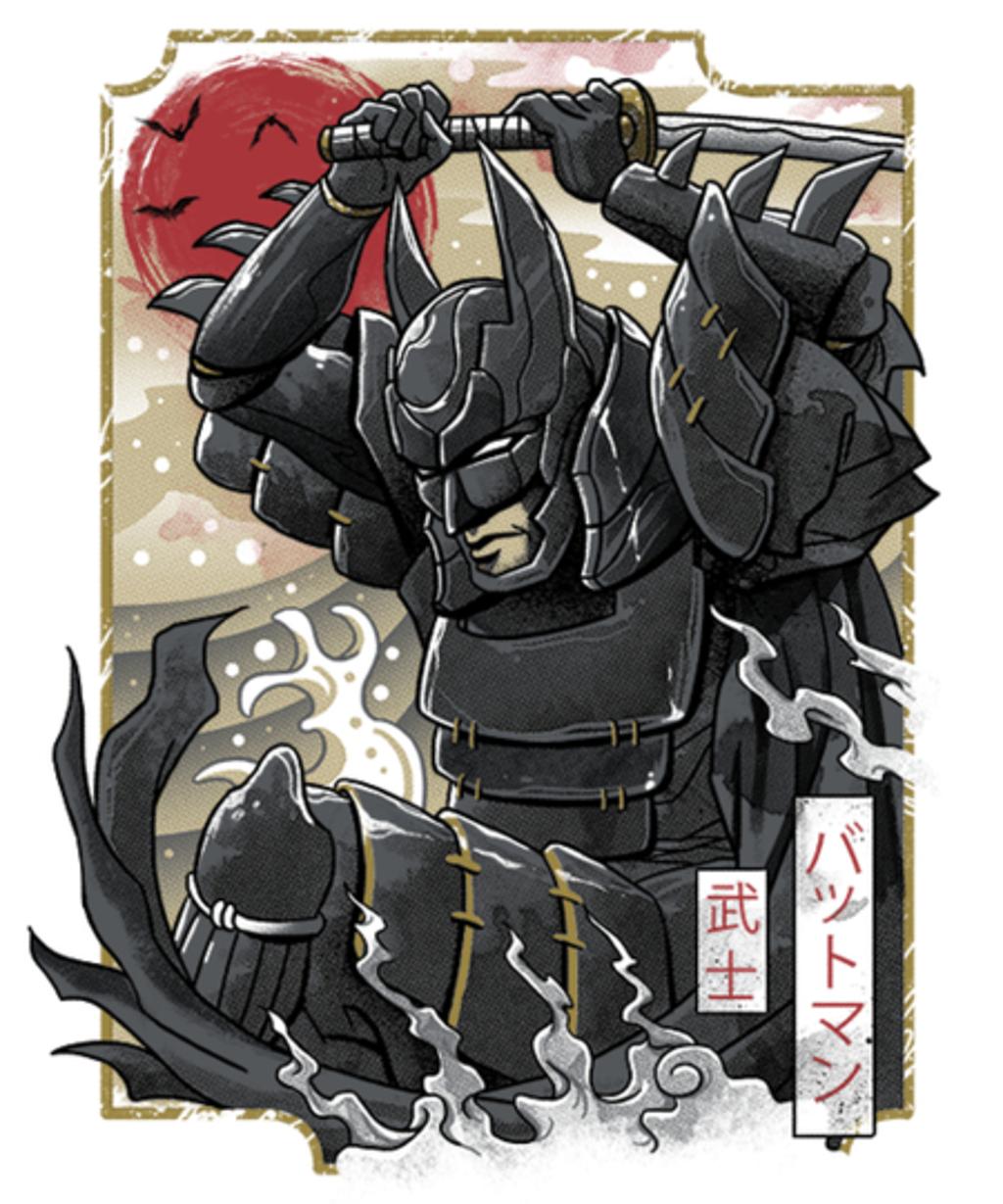 Qwertee: Dark Samurai Knight