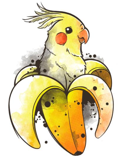 Qwertee: Banana Parrot