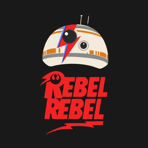 TeePublic: BB-8 Stardust: Rebel Rebel