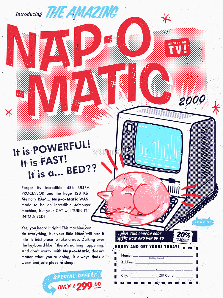 RedBubble: Nap-O-Matic