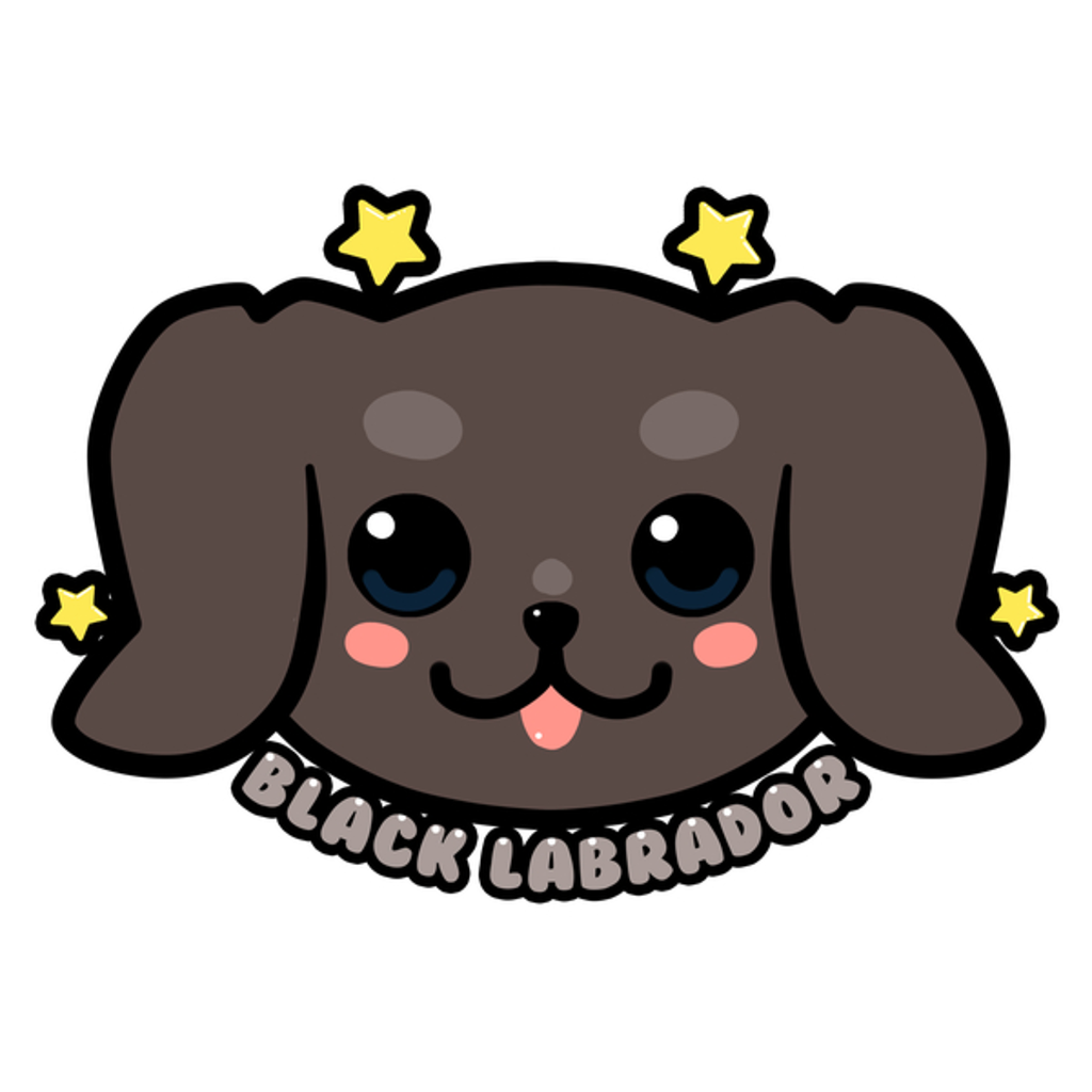 NeatoShop: KAWAII Black Labrador Dog Face