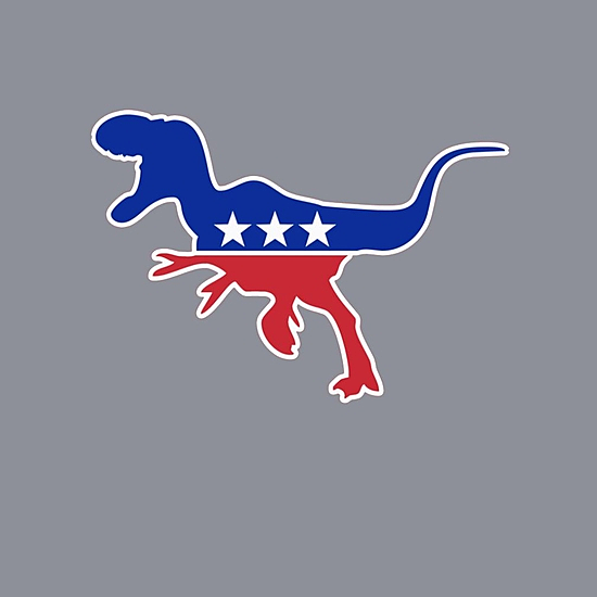 BustedTees: Dinosaur Usa Party