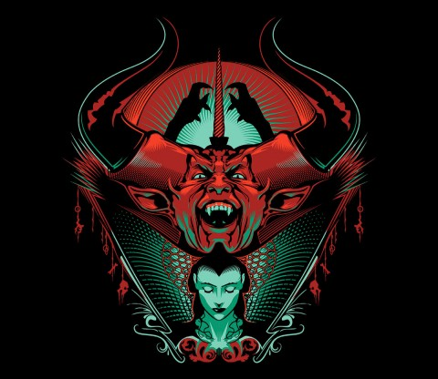 TeeFury: Black as Midnight, Black as Pitch