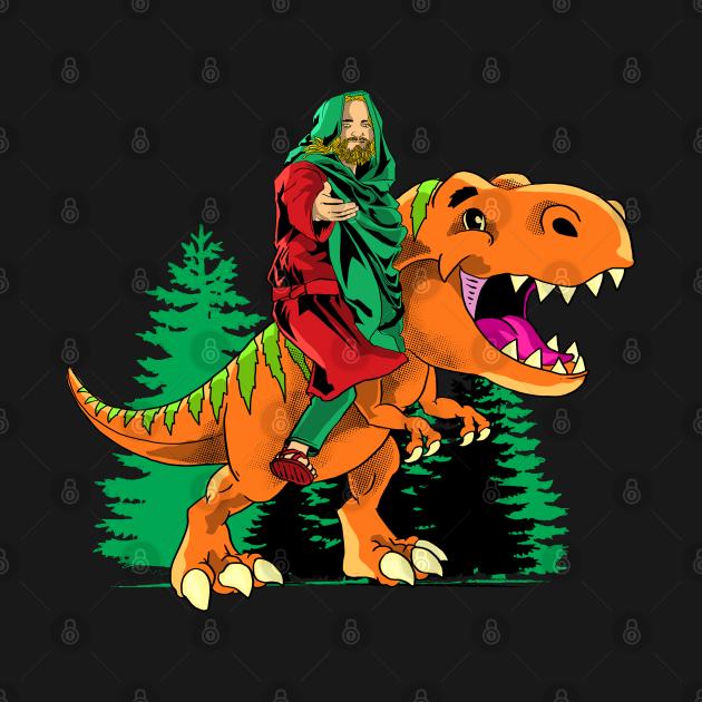 TeePublic: Jesus Christ Ride T Rex