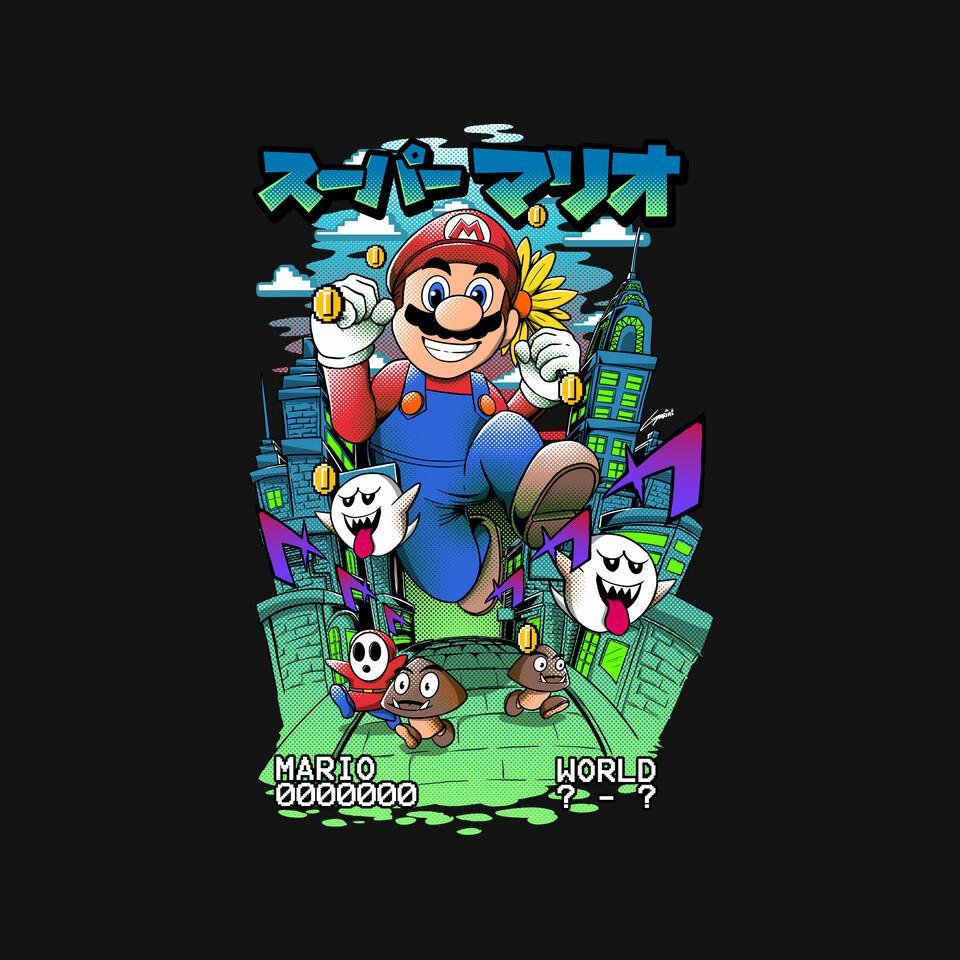 TeeFury: Mega Mario