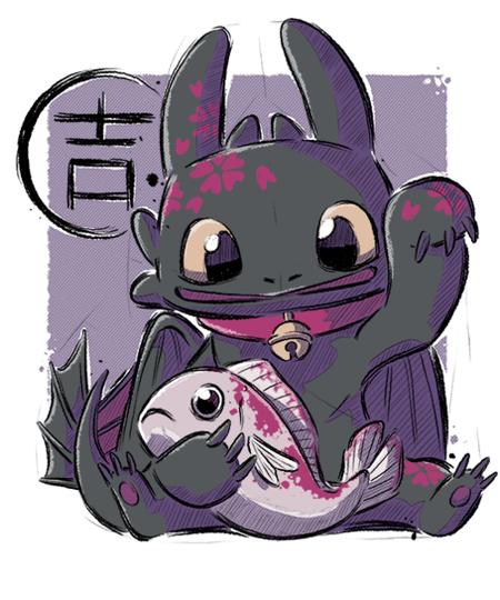 Qwertee: Maneki Toothless