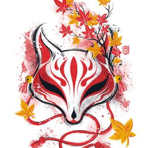 Qwertee: Autumn Kitsune