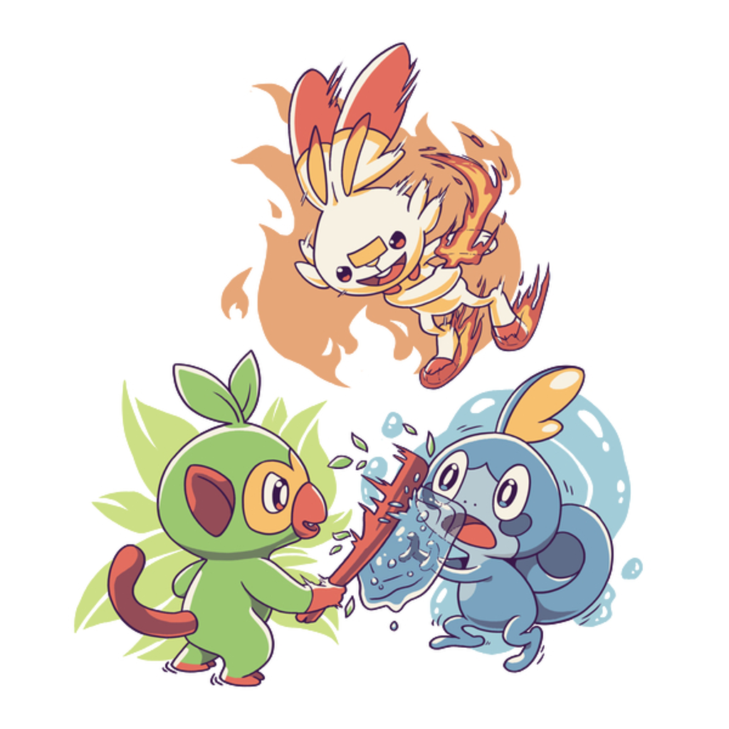 NeatoShop: Galar Starters Light Ver